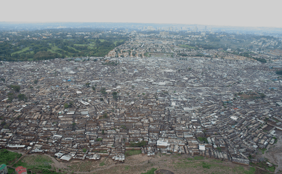 The Kibera slum in Nairobi, Kenya. (Image: WikiMedia Commons)