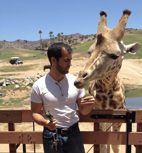 Pierce Nahigyan at the San Diego Zoo Safari Park, 2014. (Author's Collection)
