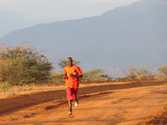 Moses, our Head of Security, passes Checkpoint 2. (Image: Ewaso Lions)