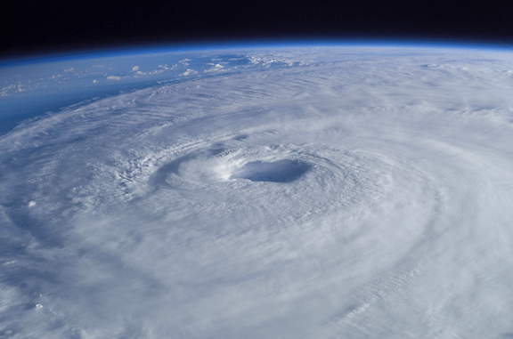 Hurricane Isabel (2003) as seen from orbit during Expedition 7 of the International Space Station. (Photo Credit: Mike Trenchard, Earth Sciences & Image Analysis Laboratory, Johnson Space Center.)