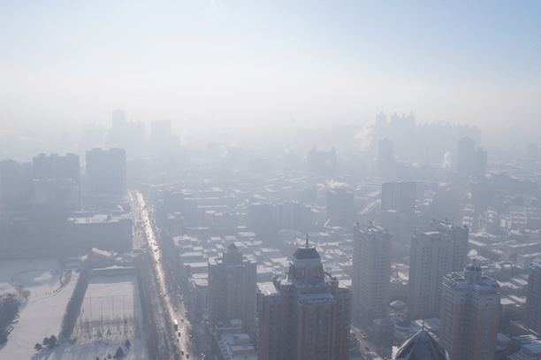 Heavy smog over Harbin, China, 2012. (Photo Credit: Fredrik Rubensson / Flickr)