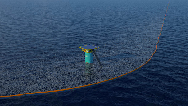 Boyan Slat's Ocean Cleanup Project's 'Net Array.' (Photo Credit: Ocean Cleanup Project)