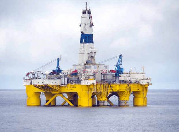 Shell's Polar Pioneer drilling rig in the Chukchi Sea off Alaska. (Photo Credit: Shell Oil Company)