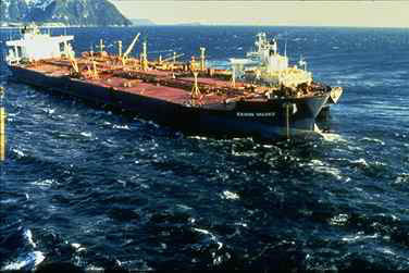 The Exxon Valdez three days after it ran aground on Bligh Reef, Alaska. (Photo: NOAA)