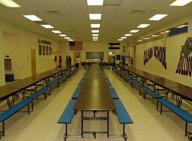 A high school cafeteria in Calhan, Colorado. (Photo Credit: David Shankbone)