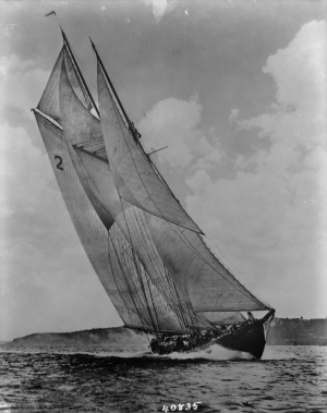 Bluenose sailing ship, 1938. (Photo Credit: Library and Archives Canada / PA)