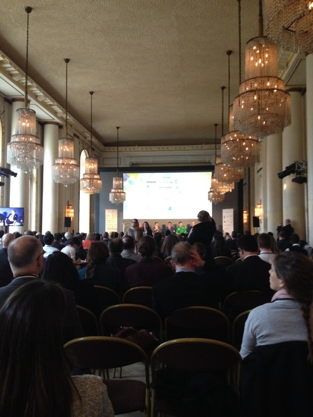 Plenary I, the opening panel of the World Climate Summit, Hotel Potocki, Paris Chamber of Commerce.