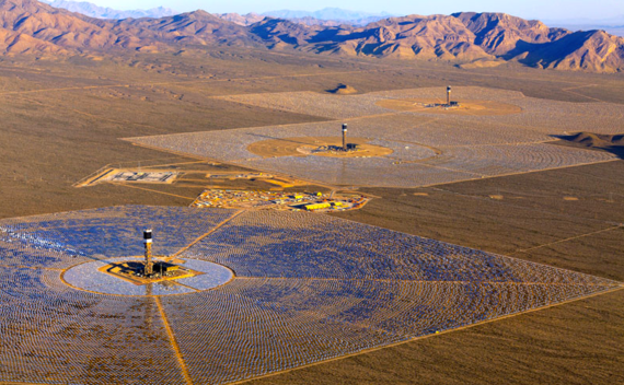 The Ivanpah Project is the world's largest operational solar thermal power plant - providing power to 140,000 homes and located in California's Mojave Desert. (Photo courtesy of California Energy Commission)