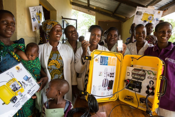 Solar Suitcase in Tanzania. (Photo Credit: Rob Beechey)