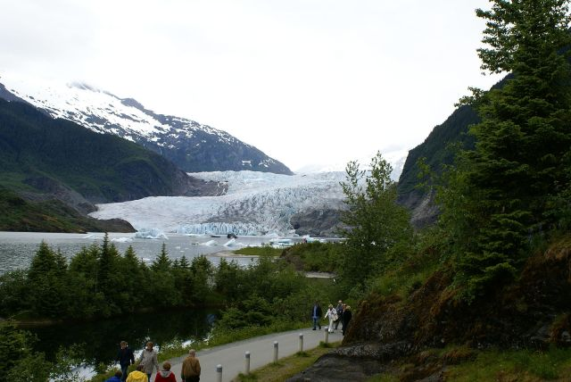 Mendenhall Glacier in Tongass National Forest near Juneau, Alaska. (Photo Credit: Richard Martin)