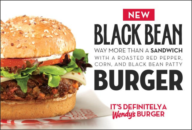 Wendy's Black Bean Burger.