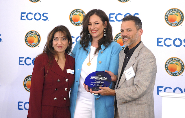 President and CEO Kelly Vlahakis-Hanks receiving the Zero Waste. (Photo Credit: EFP)