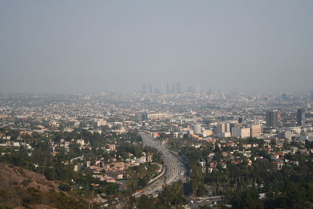A particularly smoggy day in Los Angeles, August 2007. (Photo Credit: Massimo Catarinella)