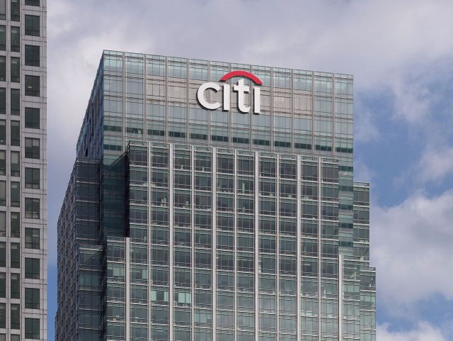 The Citigroup Centre, seen from Cabot Square in London, England. (Photo Credit: Matt Buck)