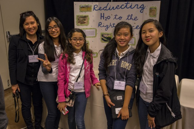 Grand Prize-winning students from Robert E. Peary Middle School. (Photo: TreePeople)