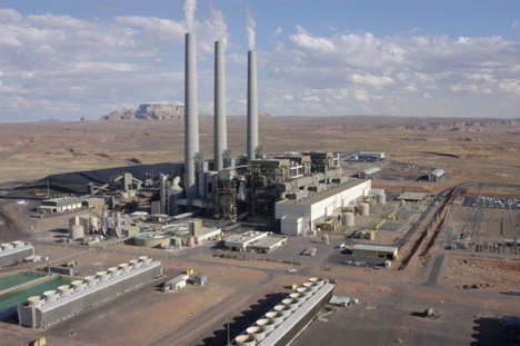 The Navajo Generating Station on the Navajo Indian Reservation near Page, Arizona, serves customers in Arizona, Nevada and California, (Photo courtesy of NGS).