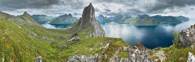 View from a ridge between Segla and Hesten, Senja, Norway. (Photo Credit: Simo Räsänen)