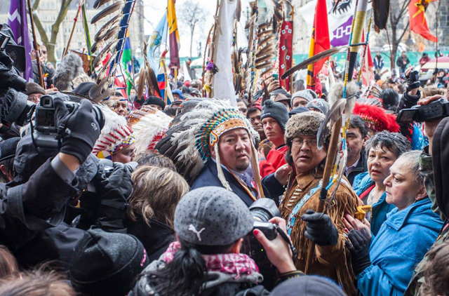 """""""Just as Indigenous Peoples are showing unwavering strength down at Standing Rock, our peoples are not afraid and are ready to do what needs to be done to stop the pipelines and protect our water and our next generations,"""" Grand Chief Derek Nepinak, pictured here, said after the Enbridge Line 3 expansion was announced. (Photo: Derek Nepinak / Facebook)"""