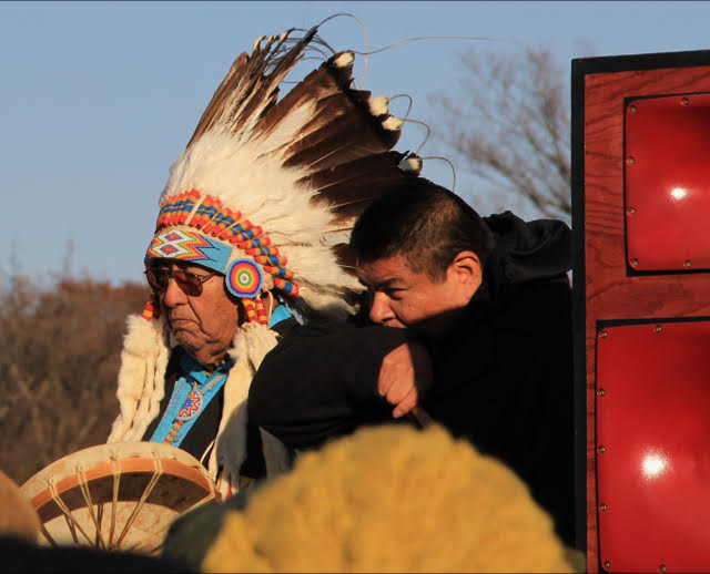 A Native American drummer protesting the Dakota Access pipeline. (Photo: Wikimedia Commons)