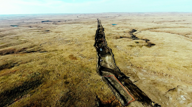 Construction of the Dakota Access pipeline near the Standing Rock Sioux reservation in North Dakota. (Photo: Jerry Anderson Aerial Photography)