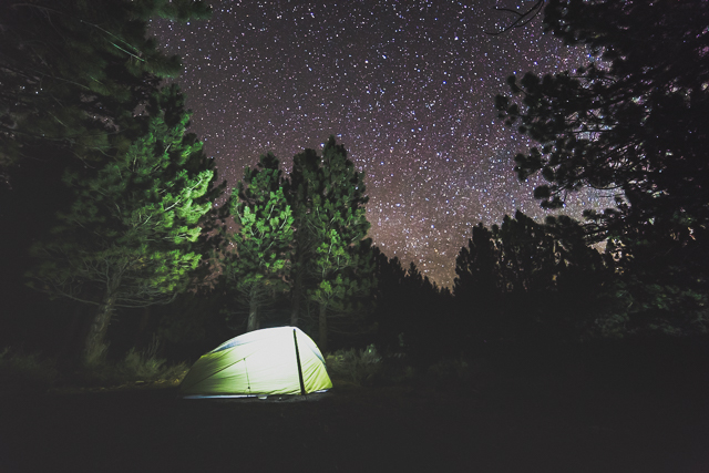 This campground in California's Eastern Sierra, which shall remain nameless, is maintained by the Forest Services and is free to use on a first-come, first-serve basis. (Photo: Brian Klonoski)