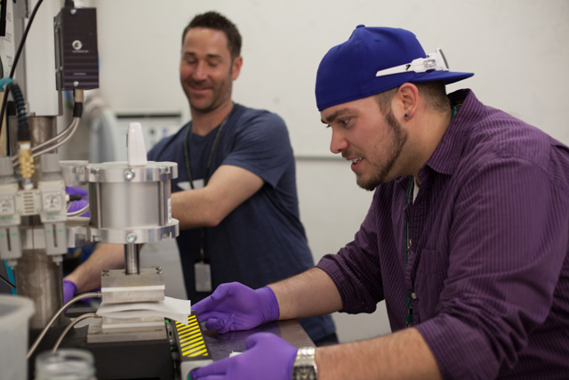 Patrick Lopez, L'Eagle's General Manager, produces L'Eagle's house made rosin. (Photo courtesy of L'Eagle Services)