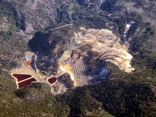 The Leviathan Mine, an abandoned, open-pit sulfur mine in Alpine County, California, is now a superfund site. (Photo: Uncle Kick-Kick / Flickr)