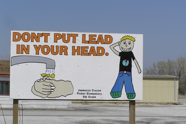 A sign in Picher, Oklahoma. (Photo: Peggy Davis / Flickr)
