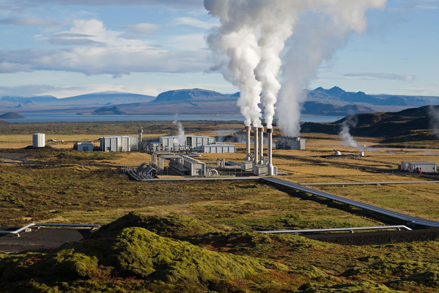 The Nesjavellir power station in southwest Iceland, a country that generates 25% of its energy via geothermal power, according to the National Energy Authority of Iceland.