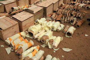 South Sudan ivory bust. (Photo Credit: Khamis Adieng / IFAW)