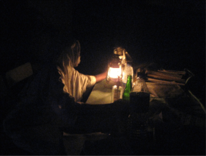 The light of a kerosene lamp. (Photo courtesy of Dr. Stachel and WCS)