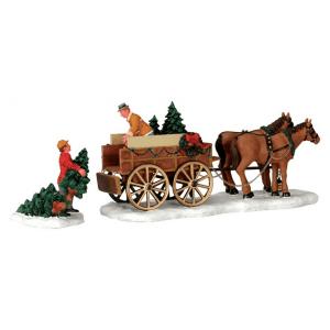 christmas tree wagon-43451-lemax
