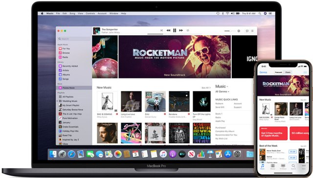 macOS Catalina - Apple Music - iTunes Store