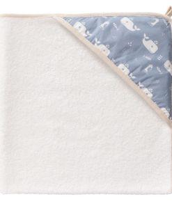 Wrapper baba törölköző - Bálna - Kék köd