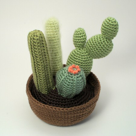 crocheted cactus collection 2 by planetjune