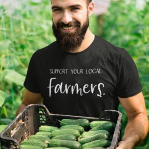 Support Your Local Farmers Unisex eco-tee District Re-tee sustainable clothing