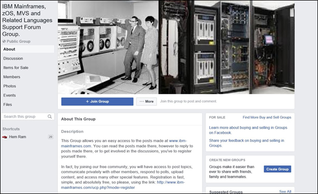Facebook Mainframe Groups