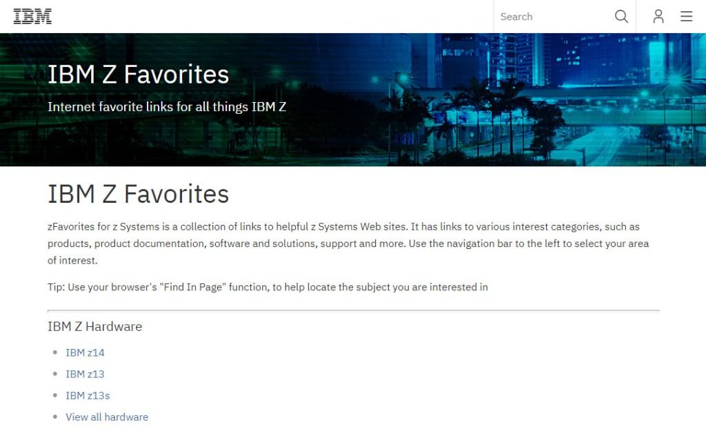 IBM zFavorites