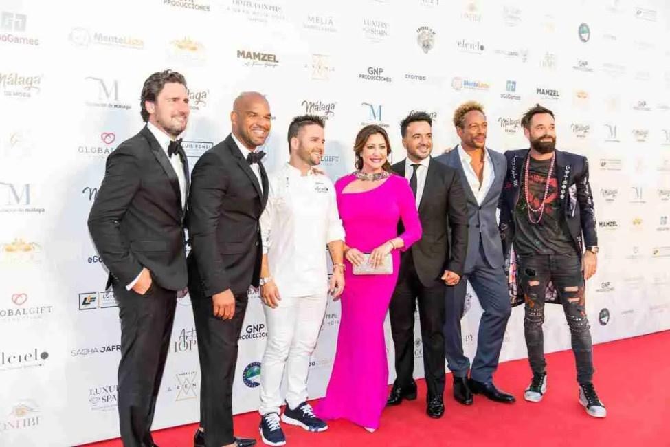 Maria Bravo and VIPs at The Golbal Gift Gala