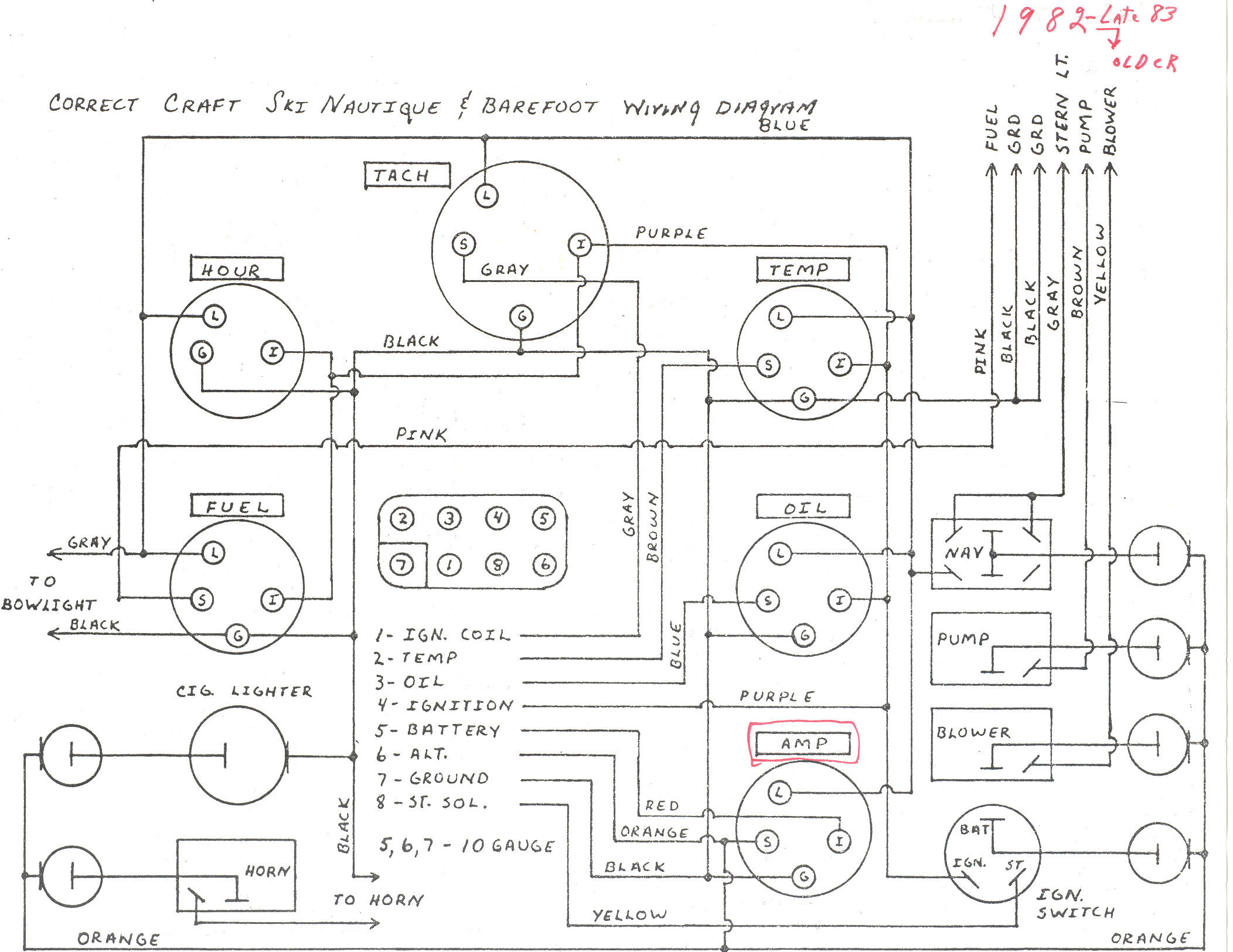 170 Mercruiser Electrical Diagram. Diagram. Auto Wiring