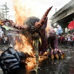 Philippine workers march against Duterte on Labour Day