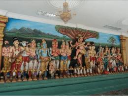 Particolare Interno Tempio indu (Kuala Lumpur)