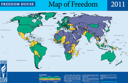 Map of Freedom 2011