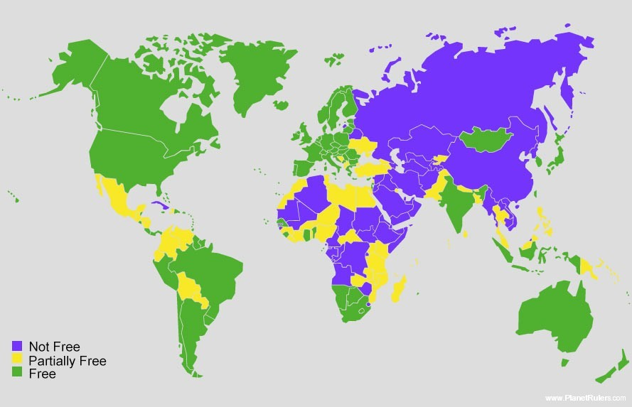 Freedom in the World Map 2013