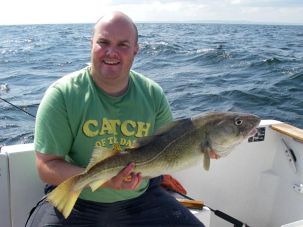 Tony with his cod