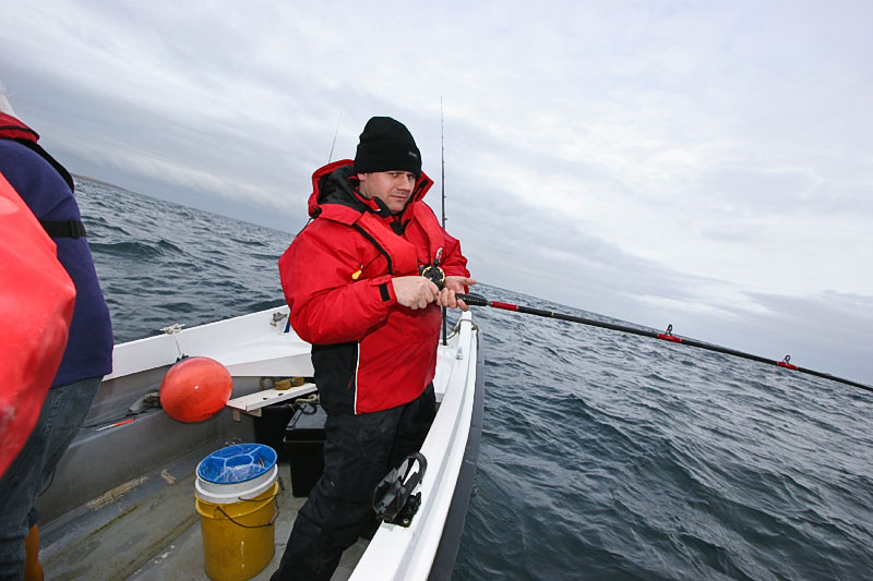 Steve Souter small boat fishing for cod