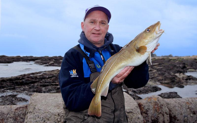 Gordon Lyall with a fine winter cod
