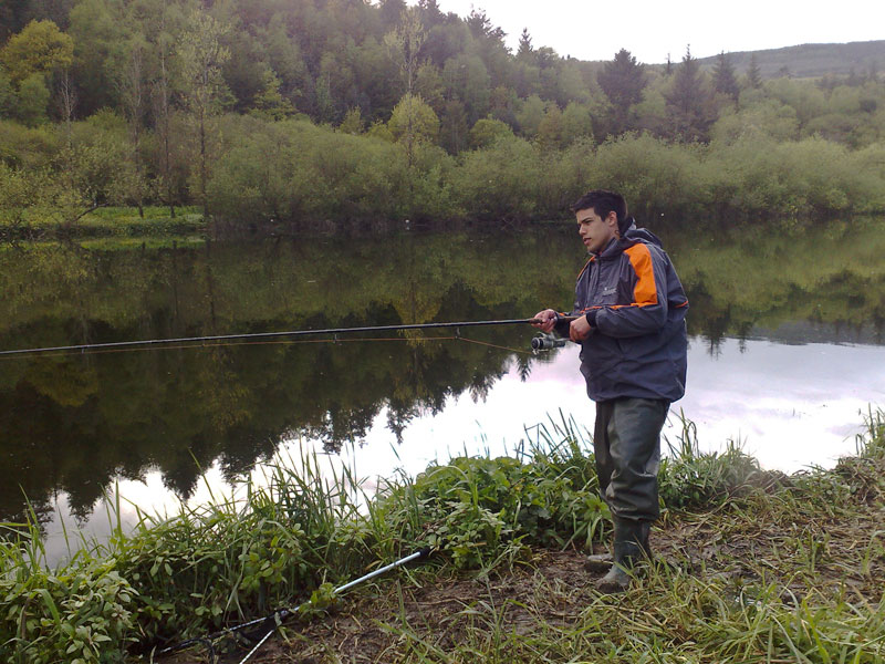 Eric Gasparro fishes for Irish Twaite shad