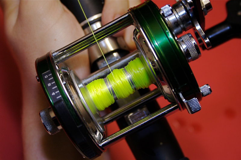 Step 5 - balancing a shore multiplier reel for casting