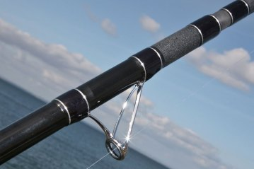Ian Golds shore rods fixed spool guides
